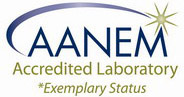 AANEM Accredited lab logo